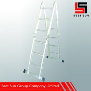 Multi Purpose Aluminum Ladder with Scaffold Plate-3rung