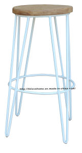 Replica Restaurant Metal Furniture Wooden Bar Stools pictures & photos
