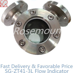 Stainless Steel Flange 90 Angle Water Sight Glass in Valve