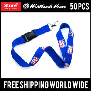 Custom Polyester Nylon Screen Printed Lanyards pictures & photos