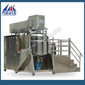 Fuluke Shampoo, Lotion, Facial Cream Making Machine Vacuum Emulsifying Mixer Machine, Cosmetic Manufacturing Equipment pictures & photos