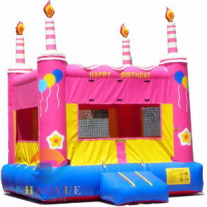 Birthday Cake Inflatable Bouncer Jumping Castle for Party pictures & photos