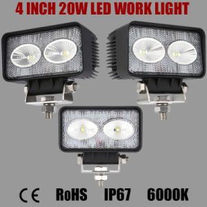 4 Inch 20W CREE LED Work Light Used on Offroad, Truck, Marine, Mining, Ariculature