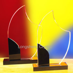 Sunflower Cheap Blank Clear Crystal Trophy Glass Award pictures & photos