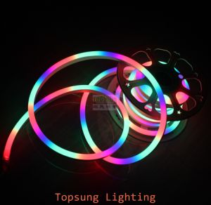 color changing led christmas light chasing neon flex