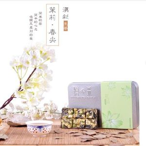 PU-Erh Mini Fermented Tea with Lovely Jasmine Flower Flavor in Gift Box