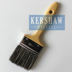 Paint Brush (paintbrush, 100% pure gray bristle flat brush with plastic handle) pictures & photos
