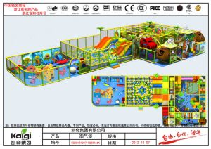 Kaiqi Children′s Indoor Soft Playground with Slides and More - Available in Many Colours (KQ20121007-TQBX166A) pictures & photos