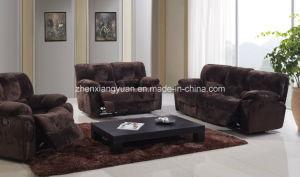 Living Room Sofa Dark Brown Fabric Sofa Set