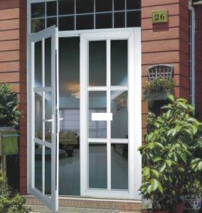 China Modern Design Back Yard Balcony Aluminium Casement Glass Door