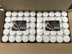 100 Tea Lights Set - White - Unscented Candles pictures & photos
