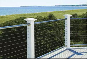 Hot Sale White Color Outdoor Stainless Steel Wire Railing