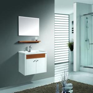 32 Inch Single Sink Bathroom Cabinet with Silver Mirror