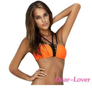 2PCS Strappy Bandeau Bikini Swimsuit pictures & photos