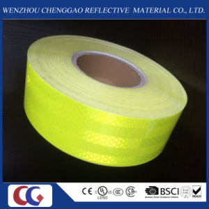 Fluorescent Yellow Pet Safety Reflective Tape /Material pictures & photos