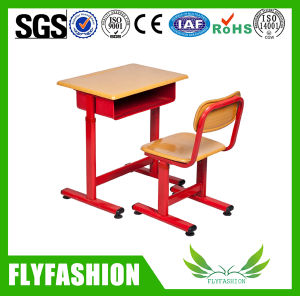 Combo Wooden Single Student Desk and Chair (SF-101S) pictures & photos