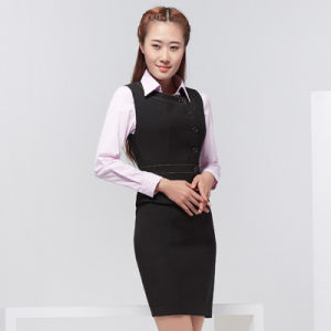 China Women Two Piece Business Jumper Skirt Suit Dress For Office