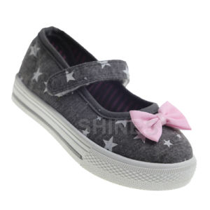 Girl′s Canvas Injection Shoe with Butter