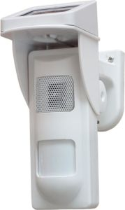 Outdoor Solar-Powered Spot Alarm PIR Detector with Sound and Light Alert pictures & photos