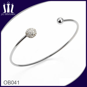 Diamond Inlay Mud Ball Roundel Slim Bracelet for Girl pictures & photos