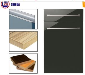 Glossy Two Packed Rounded Kitchen Cabinet Doors with Many Color to Choose (ZHUV) pictures & photos