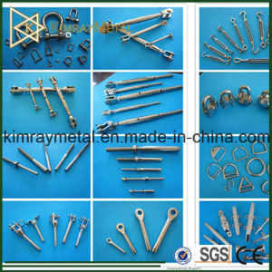 316 Stainless Steel Wire Rope / Cable Balustrade Fittings