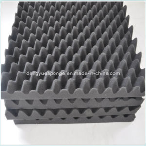 Wave Wedge Pyramid Shaped KTV Recording Room Sound Proofing Acoustic Foam pictures & photos