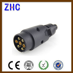 European Ce PVC Plastic 12V 24V 10A 7p 13p Brass Power Connecting Male and Female Track Multipole Vihcle Socket pictures & photos