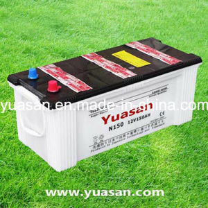 12V150ah JIS Dry Charged Truck Battery with Lowest Price--N150