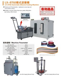 Automatic Silicone Coating Machine for Narrow Fabric, Tapes pictures & photos