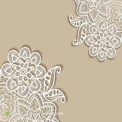 Wholesale Fancy Polyster Guipure Motifs Lace for Bridal Evening Dress pictures & photos