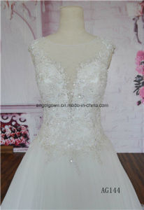 Lace Backless Bridal Gowns Sheer Sweetheart Sleeves Wedding Dress Gown pictures & photos