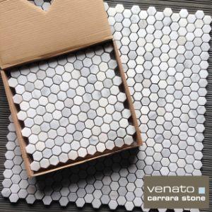 China Venato Carrara Marble Inch Hexagonal Mosaic China Floor - 1 inch hexagon ceramic tile