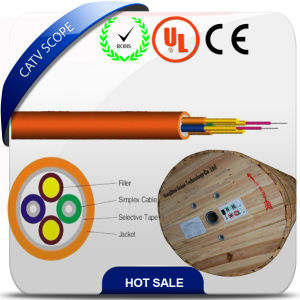 FTTH Indoor Fiber Optical Cable Loose Tube Cable 2A