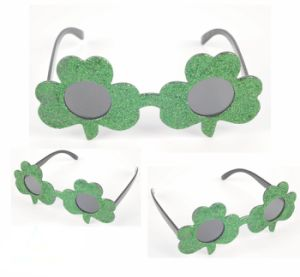 Party Glasses with Clover Design