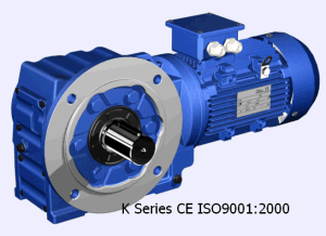 K Series 90 Degree Helical Gearbox with Motor