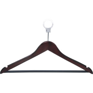1.2cm Thickness Hotel Room Wooden Silver Male Hanger pictures & photos