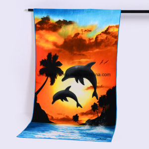250GSM Full Color Imprinting Microfiber Beach Towel pictures & photos