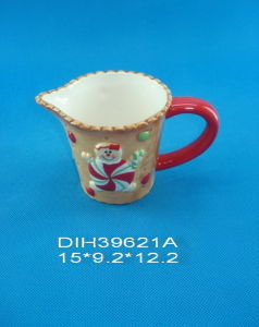 Hand-Painted Ceramic Milk Jug for Christmas Decoration pictures & photos