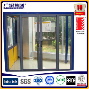 Energy Saving Aluminium Wood Sliding and Folding Door pictures & photos