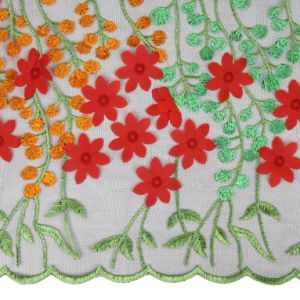3D Flower Design Custom Made Embroidery Designs Flower Lace pictures & photos