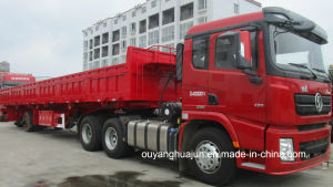 17.5 Meters Flatbed Side Dump Semitrailer