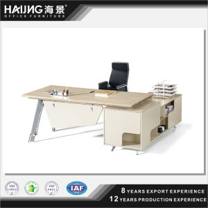 Graceful Modern Company Acrylic Solid Surface Wood Office Desk