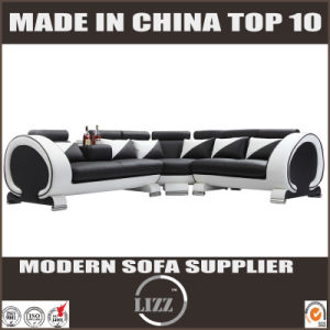 Lounge Furniture Genuine Leather Sofa for Living Room with LED pictures & photos