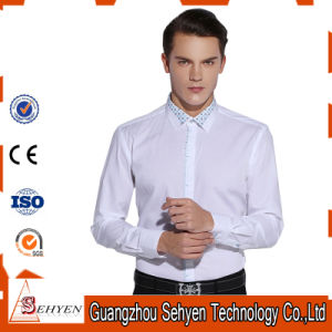 d46017184580 China Custom Men′s Slim Fit White Formal Dress Shirt of Cotton ...