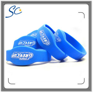 RFID Classic S50 1k Waterproof Silicone Wristband with Logo