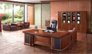 United States Executive Table Antique Wooden CEO Desk pictures & photos