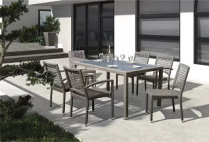 New Design PE Rattan 6 Seater Party Dining Set