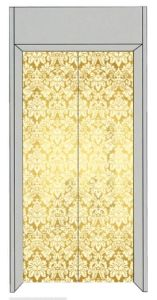 Mrl Passenger Elevator with Golden Etching Decoration pictures & photos