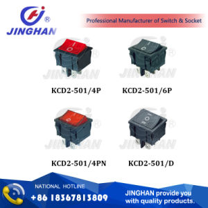 Kcd2-501high Quality Lighted Switch/ Plastical 4p/6p Switch/on-off Rocker Switch pictures & photos